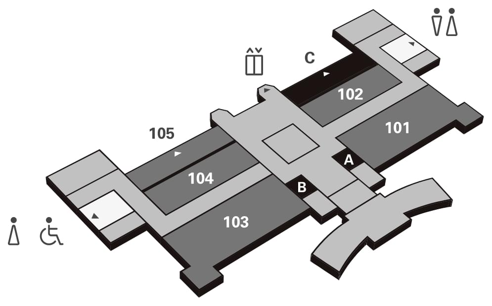 Floor plan of the 1st floor of KMH