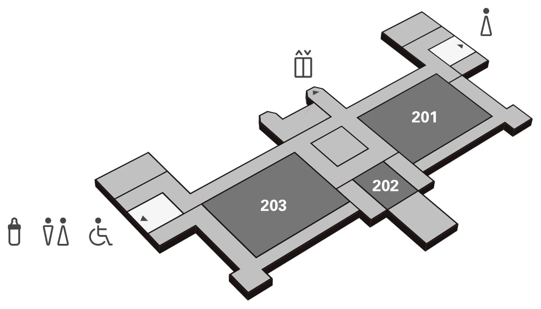 Floor plan of the 2nd floor of KMH
